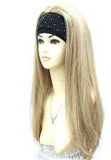 3/4 Wig Half Wigs Beautiful 2 Tone Sandy & Light Blonde Mix. Premium Vogue UK