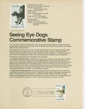 #1787 15c Seeing eye Dogs USPS #7910 Souvenir Page
