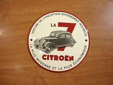 PLAQUE EMAILLEE BOMBEE CITROEN TRACTION 7 BERLINE  EMAIL ENAMELED TIN SIGN