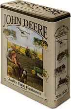 John Deere Blechdose Vorratsdose  Dose Tin Box XL 8x19x26 cm 4 L Traktor 30305