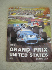 1969 US United States Grand Prix race program Stewart Brabham Andretti Surtees