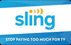 Sling TV Gift Card - $25 $50 Or $100 - Email Delivery For Sale