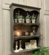 Solid Wood French Grey Wall Shelf Dresser Country Vintage Chic Kitchen Shabby
