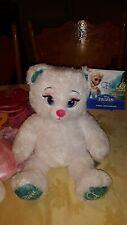 Build A Bear Frozen Disney Elsa Plush White Teddy Bear Stuffed Animal+ 6 Outfits