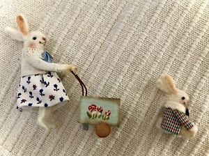 Miniature Handmade Bunny Rabbits Dolls House