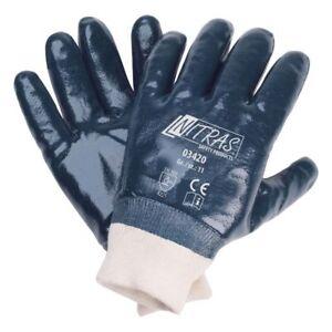 Nitril-Schutzhandschuh, blau, Strickbund, NITRAS 3420, CAT 2 , Gr.:10