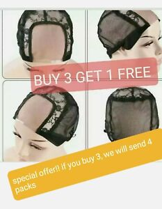 New U-part net full Wig Cap Stretchable Lace Weaving Caps For Making Wigs