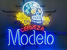 """New Modelo Especial Sugar Skull Ber Bar Artwork Neon Light Sign 20""""x16"""""""