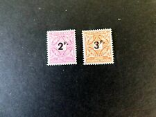 Mauritania $J17-18 Postage Due w/Overprints, 1927, Gum disturbance, space filler