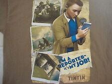 The Adventures Of Tintin Im A Reporter job Tin Tin  Cartoon Brown T Shirt S