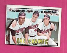 1967 TOPPS # 1 ORIOLES ROBINSON /BAUER /ROBINSON THE CHAMPS EX (INV# A8200)