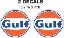 2 Gulf Gasoline Vinyl Decals