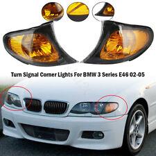 For BMW 3 Series E46 02-05Pair Sedan Wagon Amber Park Turn Signal Corner Lights