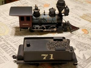 on3 brass locomotive  DSP&P NUMBER 71 sprung drivers no boiler front.