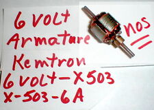 (1) 6 Volt Armature for X503 Kemtron motor Features 27.000 RPM New Old Stock