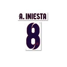 Original Barcelona FC A.Iniesta Flock für NIKE Away Trikot NEU S.2012-2013 Barca