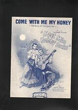 Come With Me My Honey (Song of Calypso Joe '44 Meet Miss Bobby Socks Sheet Music