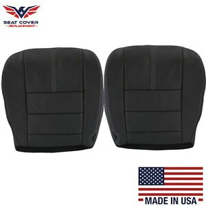 2008 2009 2010 Ford F-250 F-350 Bottom Seat Covers in Black with white stitching