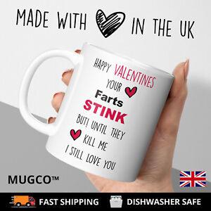 FUNNY Valentines Mug Gift Fart Love For Boyfriend Girlfriend Husband Wife Heart