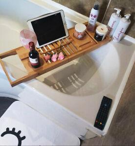 Bamboo Wooden Bath Caddy / Bath Board,  Anti Slip Viktor Benson