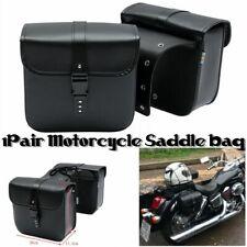 2pz 26x11.5x24cm Moto Borse Laterale Pu Pelle Per Harley Davidson Custom Scooter