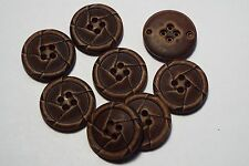 8pc 22mm Woodland Brown /& Off White Coat Suit Cardigan Knitwear Button 5254