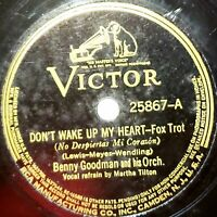Benny Goodman Orch: Don't Wake Up My Heart / Saving Myself For You: Victor 1938