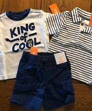 NWT Gymboree Island Hopper Polo Shirt King of Cool Top & Shorts Boys 6-12 Months