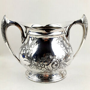 Vintage Middletown Plate Co. High Quality Hand Chased Sugar Bowl 1864 - 1899
