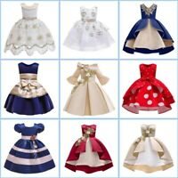 Kid Tutu Bridesmaid Wedding Princess Dresses Dress Formal Baby Flower Girl Party