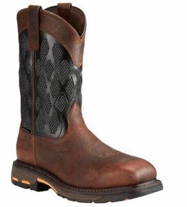 Ariat Men's WorkHog VentTEK Matrix Western Work Boots Composite Toe #10023061