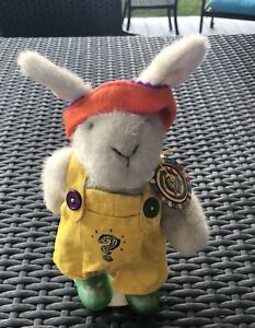 """Hoppy Vanderhare Plush Rabbit """"IN THE CLUBHOUSE COLLECTION"""" Tags And Stand"""