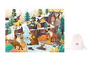 Wooden Interlocking jigsaw puzzle 48 pcs ~ Alpine Theme by Tooky Toys
