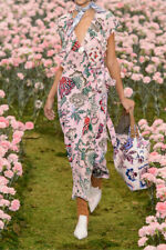 5f7bca3c5b65 Tory Burch Adelia Dress Runway Pink Wrap 10 L Happy Times Garden Party