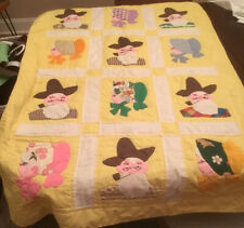 Handquilted Vintage Baby Quilt Grandma and Grandpa