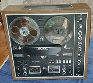 Sony TC-730 Reel To Reel Recording RTR Tape Deck Recorder Cleaned & Works Great!