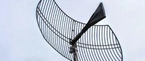 Ultra WideBand Cellular Antenna Outdoor Dish High Gain Parabolic Grid 4G 5G Wifi