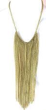 Unique Stunning Brand New (St99) Ladies Golden Layered Tassel Necklace New
