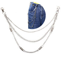 Fashion Trousers Pants Multilayer Chain Wallet Keychain Punk Hip Hop Waist B ¾q