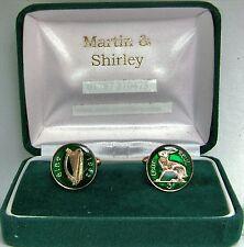 Gemelli Irlandesi fatti da vecchi Irlanda Soldini Monete In Green & GOLD