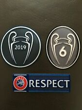 SET Liverpool champions league 2019/20 Patch Badge 6 Times Respect Jersey Shirt