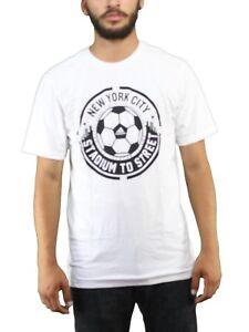 ADIDAS Men's New York City Stadium to Street Soccer Tee Shirt NWT White SIZE: XL