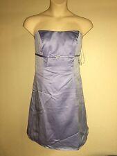 Davids Bridal Dress Plus Size 20 Bluebird Strapless Brooch Bridesmaid Prom NWT