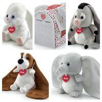 Trudi Love Box Long Ears . Cuddly Toy Basset Hound, Donkey, Elephant or Rabbit