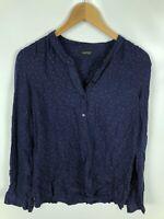 WOMAN Damen Bluse, Größe 40, blau, rote punkte, dezent, schick, locker