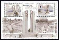 2017 Canada SC# Battle of Vimy Ridge 100 Anniversary Souvenir Sheet M-NH