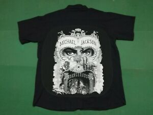 MICHAEL JACKSON  Dangerous - CAMICIA custom con materiale tessile originale XXXL