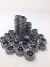 Polycarbonate V-Solid Wheel For 3D Printer, CNC. (Pack Of 4)