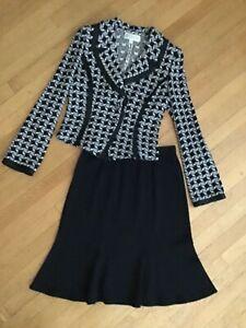 ST. JOHN COLLECTION Knit Skirt Suit 8-10