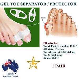 1 PAIR X Gel Protector Toe Straightener Separator Alignment Bunion Pain Relief